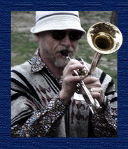 photo of Ralph Aeschliman playing trumpet.