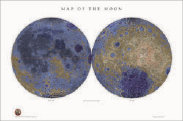 Image of Ralph's topological map of the Moon