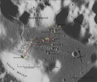 Apollo 17 traverse map