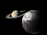Image of Saturn and Iapetus