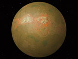Image of Venus topography
